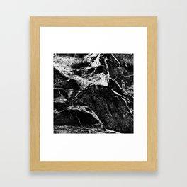 Marble Black Framed Art Print