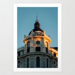 Teatro Calderon Art Print