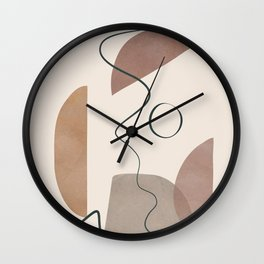 Minimal Abstract Shapes No.62 Wall Clock