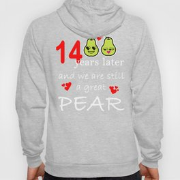14 Years Great Pear Fourteenth Anniversary print Hoody