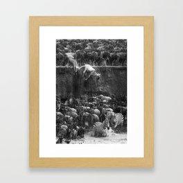 Great Migration - Serengeti Framed Art Print