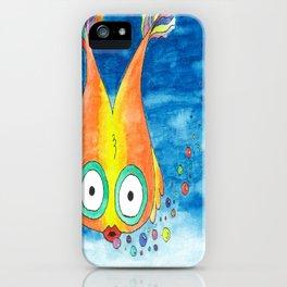 Rainbow Bubble Fish iPhone Case