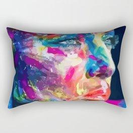 Meditative Woman Rectangular Pillow