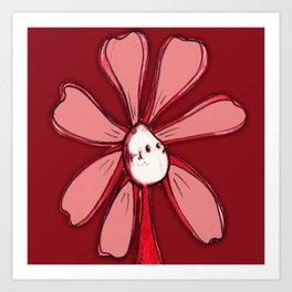 """Red"" Color Chakra Flowerkid Art Print"