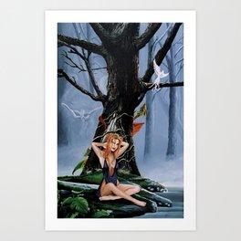 River Sprite Art Print