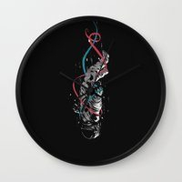 gravity Wall Clocks featuring Gravity by Luis Patino