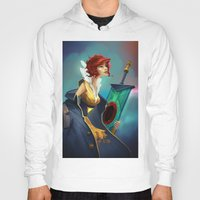 transistor Hoodies featuring Red and Luna by Leksotiger