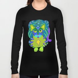 Peacock Tabby Noire Long Sleeve T-shirt