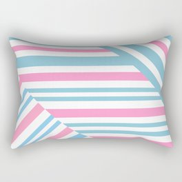 Geometric pattern. Striped triangles 2 Rectangular Pillow