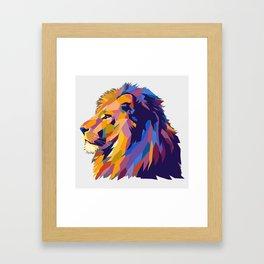 Wild Lion Framed Art Print