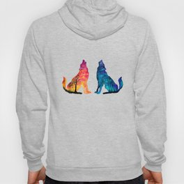 Day & Night Wolves Hoody