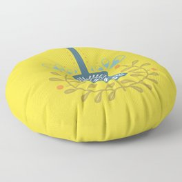 Fancy folk guitar Floor Pillow