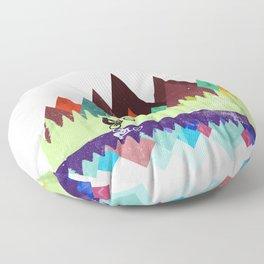 MTB retro Trails Floor Pillow