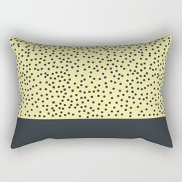 Dark navy dots on yellow Rectangular Pillow