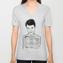 Save Ferris The Righteous Dude - Ink'd Series Unisex V-Neck