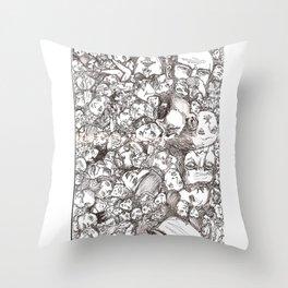 People-B Throw Pillow