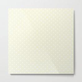 Dots (White/Beige) Metal Print