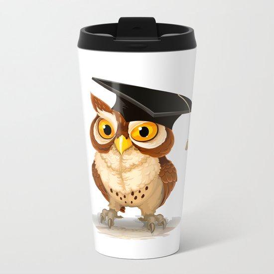 Graduated OWL Metal Travel Mug