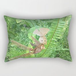 She Flies Around in the Spring Ferns Rectangular Pillow