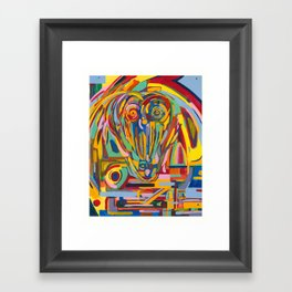 Sheep (question mark) Framed Art Print