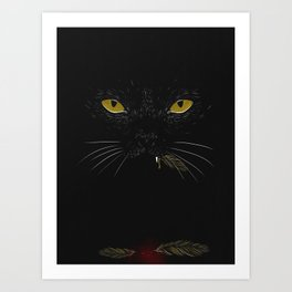 Dark kitty  Art Print