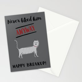 Happy Breakup! Stationery Cards