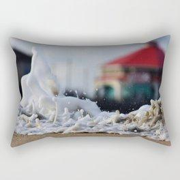 Over The Berm * Huntington Beach, California * Photo by Steve Berger Rectangular Pillow