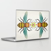 bee Laptop & iPad Skins featuring bee by Manoou