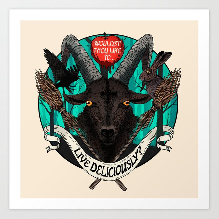 Black Phillip (The Witch) Art Print