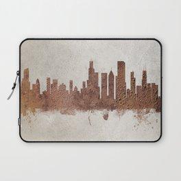 Chicago Illinois Rust Skyline Laptop Sleeve