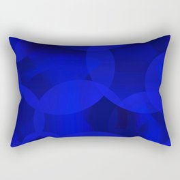 Abstract soap of ultramarine molecules and transparent bubbles on a deep blue background. Rectangular Pillow