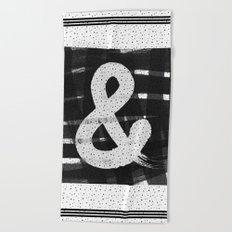 Ampersand Brush Beach Towel