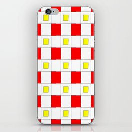 Tribute to mondrian 2- piet,geomtric,geomtrical,abstraction,de  stijl , composition. iPhone Skin