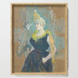 """Henri de Toulouse-Lautrec """"La Clownesse Cha-U-Kao"""" Serving Tray"""