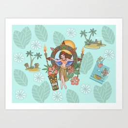 Island delight Art Print