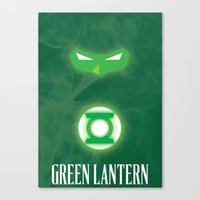 green lantern Canvas Prints featuring Green Lantern by Gari Smith
