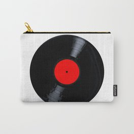 Blank Red Record Label Carry-All Pouch