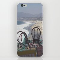 santa monica iPhone & iPod Skins featuring Santa Monica by Liv Cartmill
