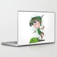 peter pan Laptop & iPad Skins featuring Peter Pan by EY Cartoons