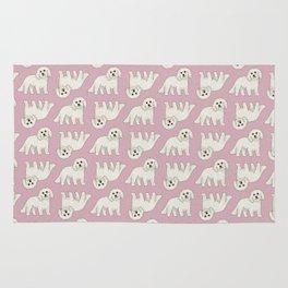 Bichon Frise Dog Pattern  Rug