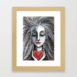 I hold your heart in mine Framed Art Print