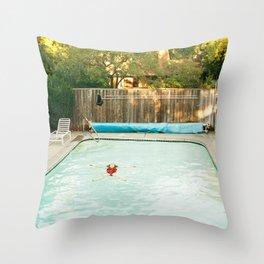 Pool Angel Throw Pillow