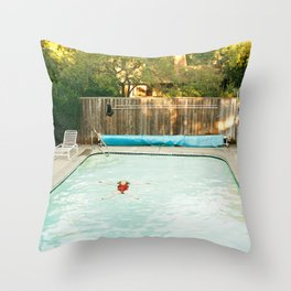 Pool Angel Throw Pillow