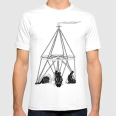 Wind Wand SMALL Mens Fitted Tee White