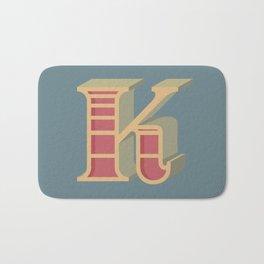 Alphabet Drop Caps Series- K Bath Mat