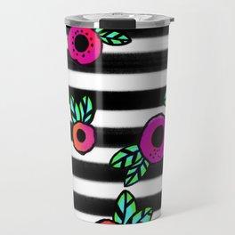 Stripes a Poppin Travel Mug