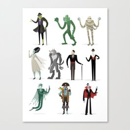 horror movies monsters Canvas Print