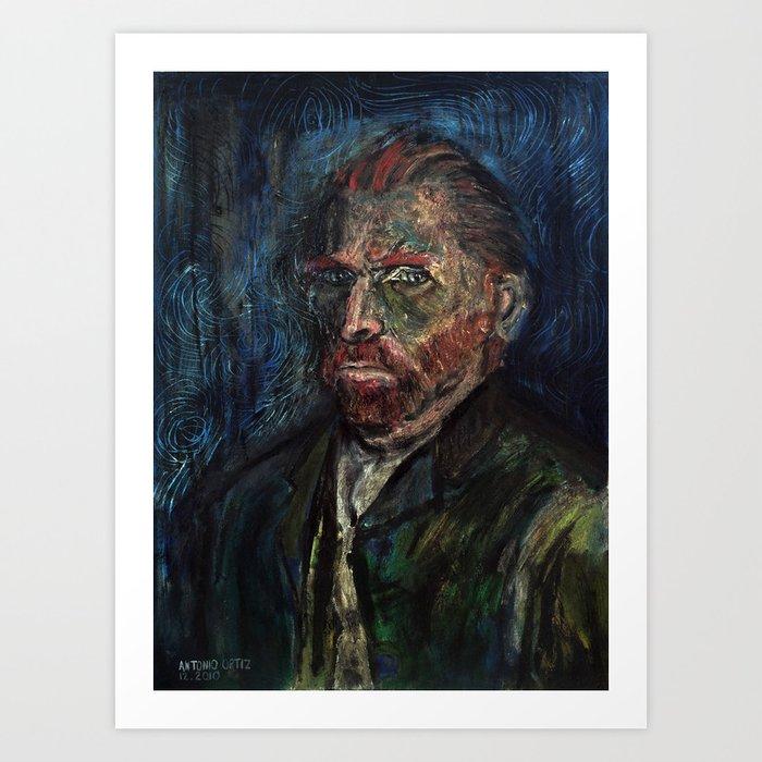 Vincent van Gogh (oil on canvas) Art Print