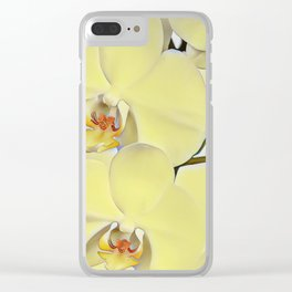 """A series of """"Favorite pillows """"""""Yellow Orchid"""" Clear iPhone Case"""