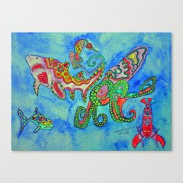 Save  The Sea Canvas Print